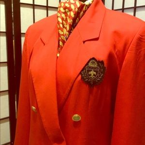 Evan-Picone EUC double breasted jacket with Crest
